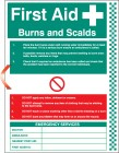 First aid burns and scalds wall panel
