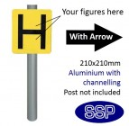 Hydrant Marker Arrow Sign for Post Mounting