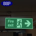 Basic Hanging Photoluminescent Fire Exit Signs