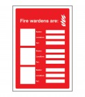 Your fire wardens are... Editable Sign