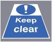 Keep clear floor graphic