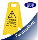 Personalised Area Closed For Cleaning Freestanding Sign