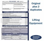 Lifting Equipment Permit To Work Self Duplicating Forms