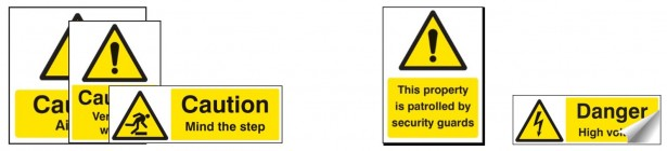 Vinyl & Plastic Warning Signs