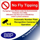 No Fly Tipping ANPR Sign