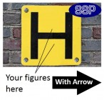 Hydrant Marker Arrow Sign for Wall Mounting