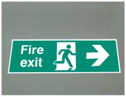 Fire exit right floor graphic