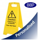 Personalised Cleaning In Progress Sign
