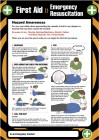 First aid emergency resuscitation poster