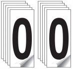 Identification Numbers Single Number 10 Packs (White)