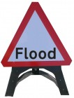 Flood Temporary Sign With Plastic Frame