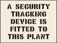 Security Tracking Device Fitted To Plant Stencil