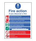 Fire action auto dial with lift (English Polish) Sign