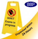 Quiet Exams In Progress Self Standing Sign