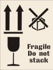 Fragile Do Not Stack Stencil
