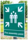 Fire Assembly Point Signs For Post Mounting