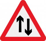 Two Way Traffic Straight Ahead Sign 521