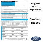 Confined Spaces Permit To Work Self Duplicating Forms