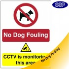 No Dog Fouling CCTV Sign
