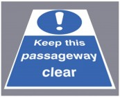Keep this passageway clear floor graphic