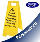 Personalised Asbestos Removal Freestanding Sign