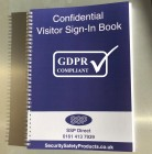 Sign-in Book (500 names) Data Protection GDPR Compliant Blacked Out Names Visitor Books