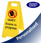 Personalised Exams In Progress Self Standing Sign