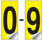 Identification Numbers Packs of 10 0-9 (Yellow)