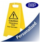 Personalised Hazardous Area Sign