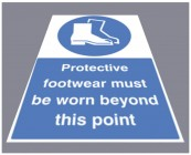 Protective footwear must be worn floor graphic