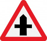 Cross roads ahead road sign 504.1
