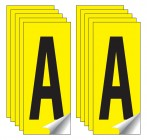 Identification Letter Packs of 10 (Yellow)