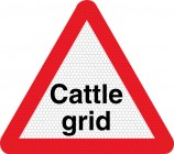 Cattle grid ahead road sign 552