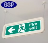 Premium Hanging Fire Exit Signs