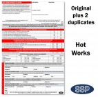Hot Works Permit To Work Self Duplicating Forms