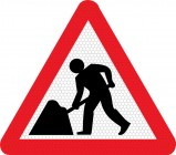 Men at Work Road Sign 7001