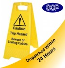 Trailing Cables Trip Hazard Freestanding Sign