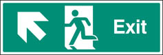 Exit Up & Left Sign