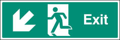 Exit Down & Left Sign