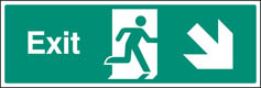 Exit Down & Right Sign