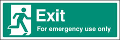 Exit for emergency use only sign