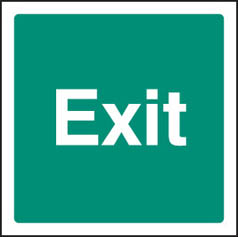 Exit (text only) sign