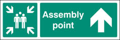 Assembly Point Up/Ahead Signs