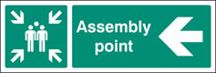 Assembly Point Left Signs