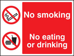No smoking, no eating, no drinking Sign (3012)