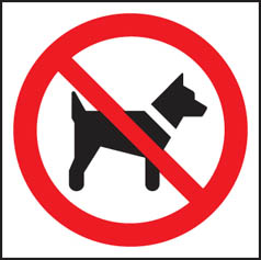 No dogs (symbol) sign