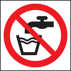 Not Drinking Water (Symbol) Sign