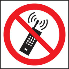 No mobile phones symbol sign