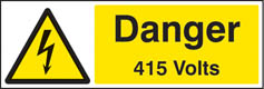 Danger 415 volts Sign