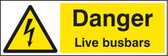 Danger live busbars sign